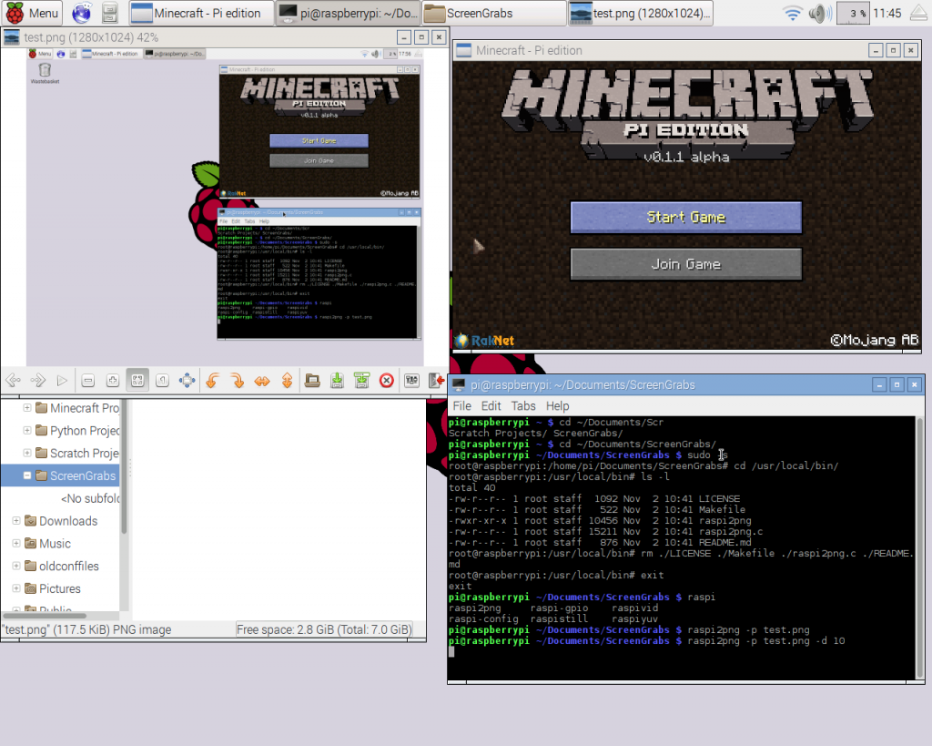 Raspberry Pi Minecraft Screen shot