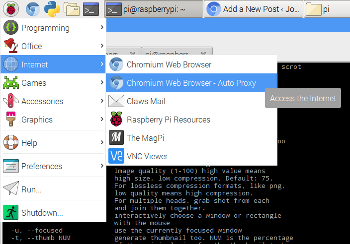 Using a Proxy with your Raspberry Pi | Jon Witts' Blog